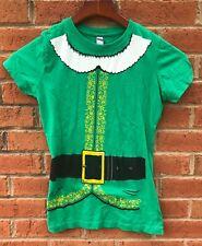 ELF WILL FERRELL YOUTH KID GIRLS BOYS HOLIDAY CHRISTMAS COSTUME SHIRT 8 S SMALL