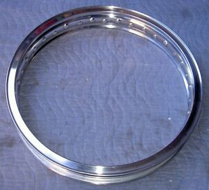 WM2 1.85 X21-40 hole Akront/Italian style flanged alloy motorcycle rim UNDRILLED