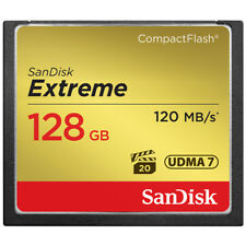 SanDisk Extreme 128GB CompactFlash CF Memory Card UDMA7 Read 120MB/s W 85MB/s
