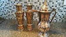 Rare Brass Egyptian Art Motif Pitcher and URN Collection - Absolotely Stunning!