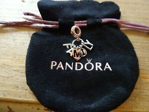 PANDORA ROSE GOLD & SILVER  PERFECT FAMILY Charm Bead 787785 ALE R