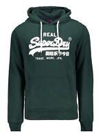 Superdry VL Sport Logo Overhead Hoodie Sweatshirt Hooded Sweat Top Pine Green