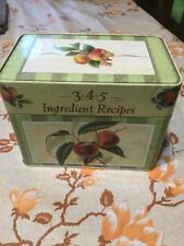 Recipe Card Tin Box by Publications International 3-4-5- Ingredient Recipes