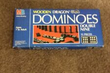 DOMINOES Vintage 1983 Wooden Dragon Double Nine 55 Pieces Age 7+