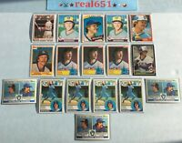 1979~1985 ROBIN YOUNT Lot x 17 Vintage | Topps Donruss | Brewers HOF Batch