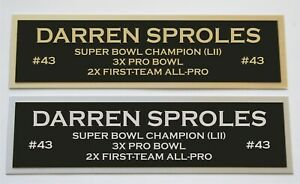 Darren Sproles nameplate for signed jersey football helmet or photo