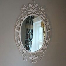 French Country Metal Frame Oval Decorative Mirrors
