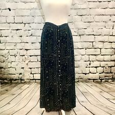 VTG 90s Free People Floral Maxi Skirt Size 9 Festival Style Boho Chic