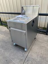 Qualserv stainless steel Portable hand sink hot water daycare farmers market