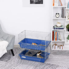 2-Tier Small Animal Cage Hamster Cage Metal Wiring w/ Accessories Ramp Pet Home