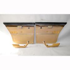 1975-1977 BMW E12 530i Sedan Rear Interior Door Trim Panel Pair Nylon Brown OEM