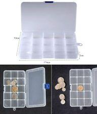 Boîte de Rangement Plastique,15x8 Grilles Diviseurs à Compartiments Ajustables