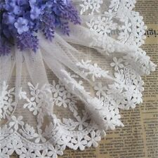 13cm Wide Lace Floral Embroidered Tulle Trim Wedding Dress Bridal Sewing Craft