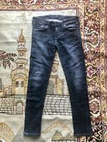 Citizens of Humanity Dark Blue Cotton Low Rise Skinny Leg Denim Jeans Size 28