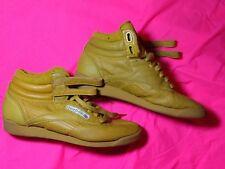 Reebok throwback hi top mustard leather women's sneakers size 8.5