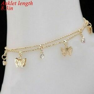 Fashion Gold Butterfly Ankle Bracelet Sandal Anklet Foot Jewelry Chain Beach