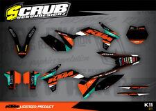 KTM SX SXf 125 144 150 250 350 450 Dekor Grafik Set  2011 - 2012 '11 -'12 SCRUB