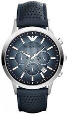 NUOVO EMPORIO ARMANI AR2473 Da Uomo Navy Blue Orologio Cronografo - 2 anni di garanzia