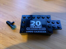 Lego 20th Anniversary Lando Calrissian Base Plate & Gun From 75259 Minifigure