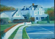 "Original Oil on Canvas ""Jersey Shore House"" by Ross D Jahnig"