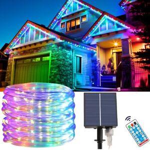 Solar Rope Tube Lights Outdoor Waterproof 100 LED Landscape Lighting Garden Deco