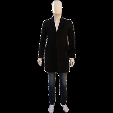GAZZARINNI MEN'S DETACHABLE LAMB COLLAR WOOL CASHMERE CAR COAT