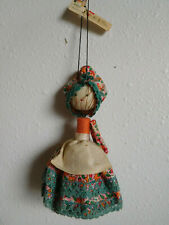 Ishihara Hanging Metal Bell with Cloth Doll Decoration over with China tag