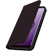 Samsung-Etui Galaxy S9 Plus Cover Leder Wallet-Etui Funktion Halterung - Brown