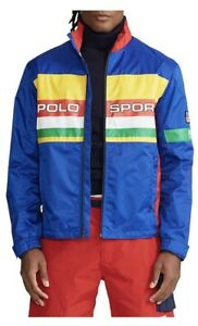 New Polo Ralph Lauren Colorblocked Ripstop Windbreaker Jacket - Large