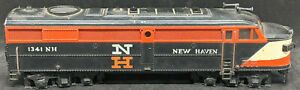 Fleischmann HO Scale New Haven 1341 Alco F  Metal Diesel Locomotive METAL SHELL!