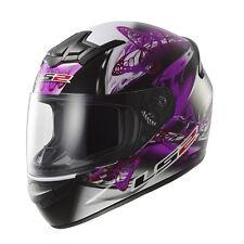 LS2 Helmet Motorbike Fullface Ff352 Rookie Flutter Black-purple L