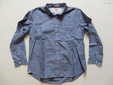 Levi's® Jeans Hemd Herrenhemd Gr. 2 XL, XXL, blau-grau meliert, SLIM FIT ! RAR !