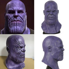 Thanos Latex Full Mask Cosplay Infinity War The Avengers Props Face Helmet Party