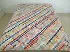 OUTSTANDING Vintage Hand Sewn Feed Sack KITE'S TAIL (All Over Pattern) Quilt