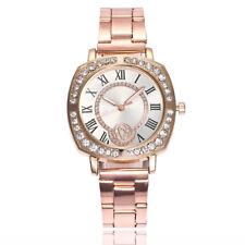 New Luxury Women Crystal Dial Quartz Analog Stainless Steel Bracelet Wrist Watch
