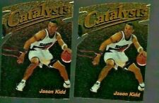 JASON KIDD 1997-98 TOPPS FINEST CATALYSTS #171 RARE DIE CUT / EMBOSSED Lot of 2