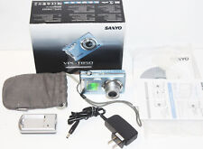 Sanyo VPC T850 8.0MP Digital Camera - Blue 3X Optical Zoom - Complete in Box