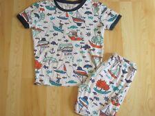 Age 8-9 Years BNWT Boys Blue Skull /& Crossbones Fleece Pyjama Set