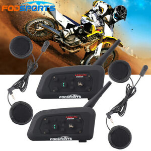 V6 1200M Bluetooth Motorcycle Helmet Intercom Headset  6 Rider Talkie Interphone