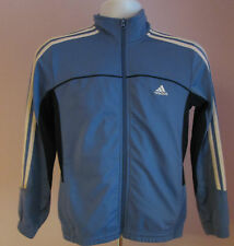 VTG Retro Mens ADIDAS Pale Blue/Dark Blue Underarms Track Suit Sport Top Size XS