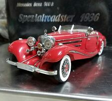 1936 MERCEDES BENZ 500 K SPEZIALROADSTER MODEL BY CMC OF GERMANY, 1/24 SCALE