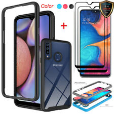For Samsung Galaxy A20S Hybrid Shockproof Case Clear Cover+Full Screen Protector