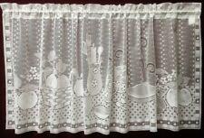 "White Lace Window Valance Country Kitchen 60"" x 25.25"" Kitchen Diningroom"