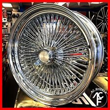 18x8 fwd wire wheel 100 SPOKE WIRE WHEELS STRAIGHT LACE CHROME RIMS (4pcs)