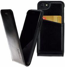 Original Suncase® Leder Flip Hülle Slim Schutzhülle Schwarz Tasche für iPhone 7