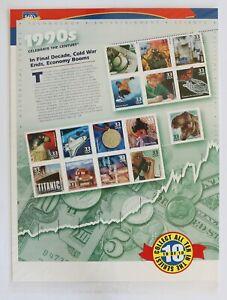 33c Celebrate the Century 1990s Souvenir Sheet of 15 2000 Scott #3191 Sealed