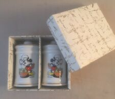 VINTAGE BOXED 1980's WALT DISNEY MICKEY MOUSE Salt and Pepper Pots Shakers 80s