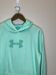 15/2 Womens Under Armour Loose Fitted Hoodie Sweater Size LG Blue