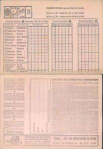 SISAL SPORT ITALIA R@R@ SCHEDINA N. 31 TOTOCALCIO DEL 27 APRILE 1947