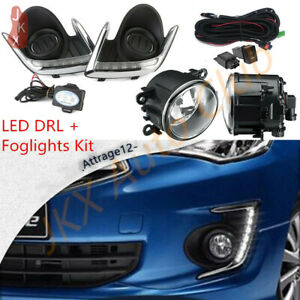 For Mitsubishi Attrage Mirage G4 12-2020 c Daytime Running Light &Fog Lamp &Wire